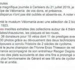 21 juillet 2019 - Exposition Vélomania à Cerisiers